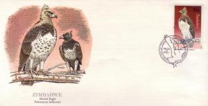 Zimbabwe FDC SC# 483 Martial Eagle L403