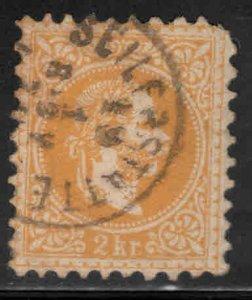 Austria Osterreich Scott 27 Used  perf  9.5 Coarse printing