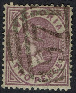 VICTORIA 1878 QV 2D ON BROWN EMERGENCY PAPER USED
