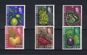 Montserrat, 193-98, Surcharged in Black Singles, **MNH**