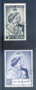 St Helena 1948 Silver Wedding SG143/4 Fine Used