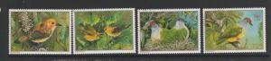 Cook islands 1990 Endangered Birds VFU/CTO SG 1222/25