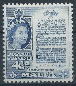 Malta 1956 - 4½d - SG273 NHM