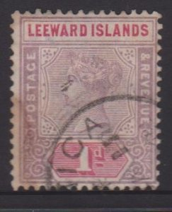 Leeward Islands Sc#2 Used - Postmark Cancel Dominica