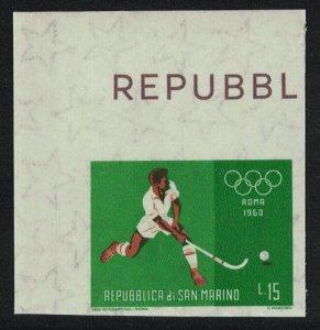 San Marino Hockey Olympic Games 1960 Imperf SG#MS616-3 MI#677 CV£3.25