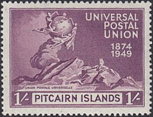 Pitcairn Islands # 16 mnh ~ 1sh UPU