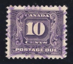 Canada #J10 Dark Violet - Used