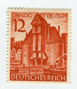 GERMANY; 1939 early Third Reich issue Mint hinged value, Danzig Occ
