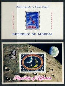 Liberia #C162*,C186u  CV $6.50  Space, Apollo 14 Souvenir sheets