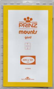 PRINZ CLEAR MOUNTS 229X131 (5) RETAIL PRICE $9.50