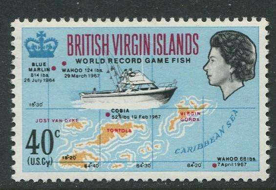 Virgin Is.- Scott 189 - Game Fishing -1968 - MNH - Single 40c Stamp