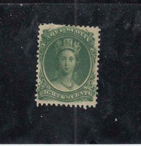 NOVA SCOTIA (MK4563)  # 11 VF-MNH  8 1/2cts  QUEEN VICTORIA //GREEN CAT VALU $40