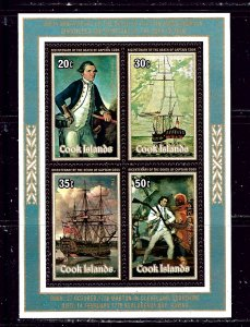 Cook Is 513a MNH 1978 Capt Cook  S/S