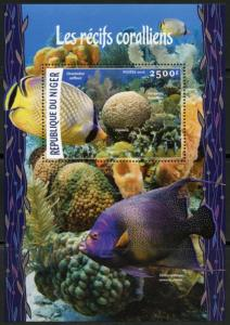 NIGER 2016 CORAL REEFS SOUVENIR SHEET MINT NEVER HINGED