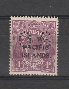 NWPI NEW GUINEA 1919 KGV  OS 4D VIOLET