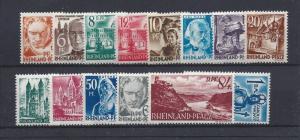 Germany (Rhine-Palatinate), 6N16-6N29,Occupation Stamps Singles,**MNH**,(LL2019)