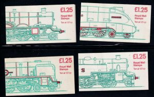 GB BK # 514 VF-MNH 4 DIFFERENT COVERS BOOKLETS PO FRESH CAT VALUE $32+
