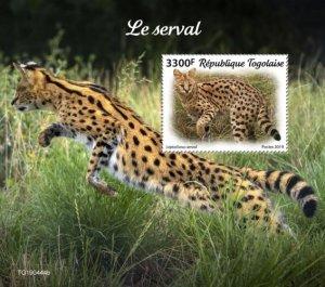 TOGO - 2019 - Serval - Perf Souv Sheet  - M N H