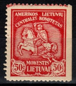 Lithuania American Lithuanian Central Committee Stamp (V5299)