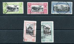 Romania 1906 Accumulation 5b 10b 25b 30b 40b Overprint  S E Used 9711
