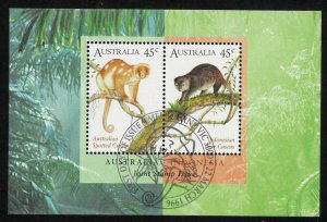 Australia (1996) Sc#1490a Australia/Indonesia Joint Issue S/S CTO