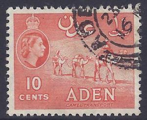 Aden # 49 Used - 1955 10c Camel Transport