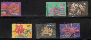 Malaysia Scott 191, 193-197 Used short Orchid Flower set 6/7