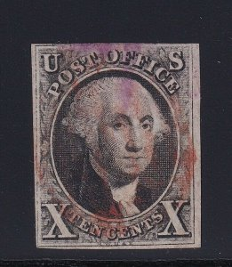 2 VF used neat purple and Red cancel with nice color cv $ 975 ! see pic !