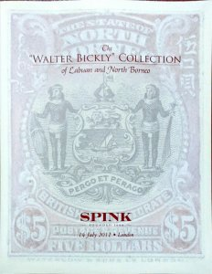 Auction Catalogue Walter Bickly Specialised Stamps of LABUAN and NORTH BORNEO