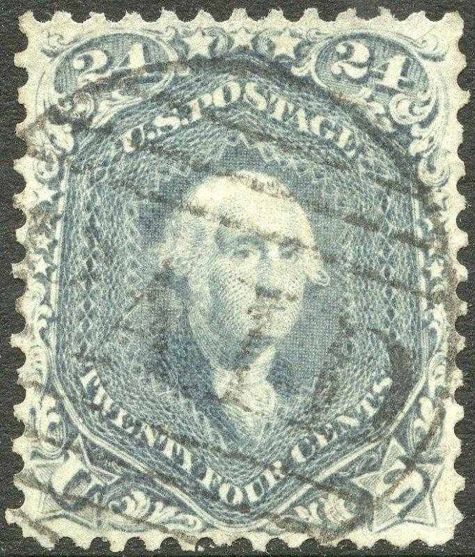 #70b XF (APP.) USED 24¢ STEEL BLUE WITH PF CERT CV $900.00 BP0723
