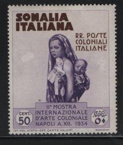 SOMALIA, 167, HINGED, 1934, MOTHER AND CHILD, SLIGHT THIN