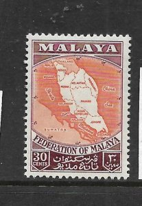 FEDERATION OF MALAYA, 83, MNH, MAP OF FEDERATION