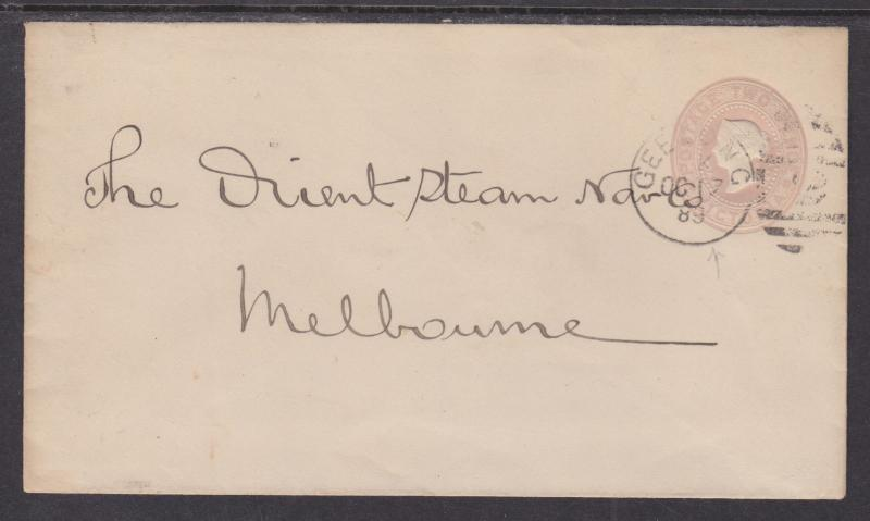 Victoria H&G B4d used 1889 2p QV Envelope, XF