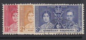 NORTHERN RHODESIA, Scott 22-24, used