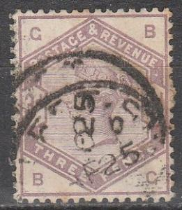 Great Britain #102  Used  CV $100.00  (S7902)