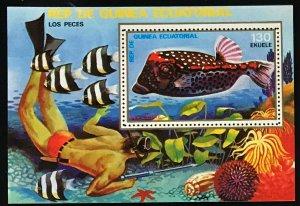 Equatorial Guinea #MiBl312 MNH S/S CV€6.00 Tropical Fish