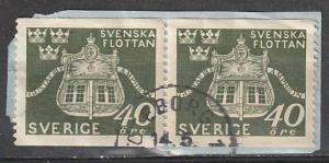 #354 Sweden Used Coil Pair on paper