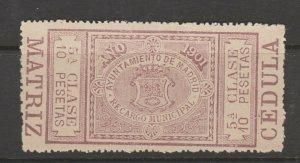 Spain Revenue Fiscal Cinderella stamp 9-20-14