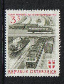Austria 1961 MNH European Transport Ministers complete