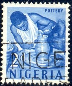 Pottery, Nigeria stamp SC#104 used