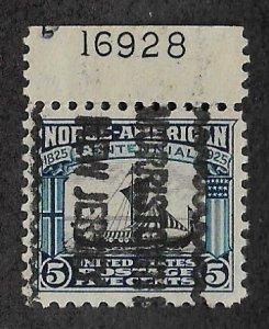 621,used precancel plate # 16928