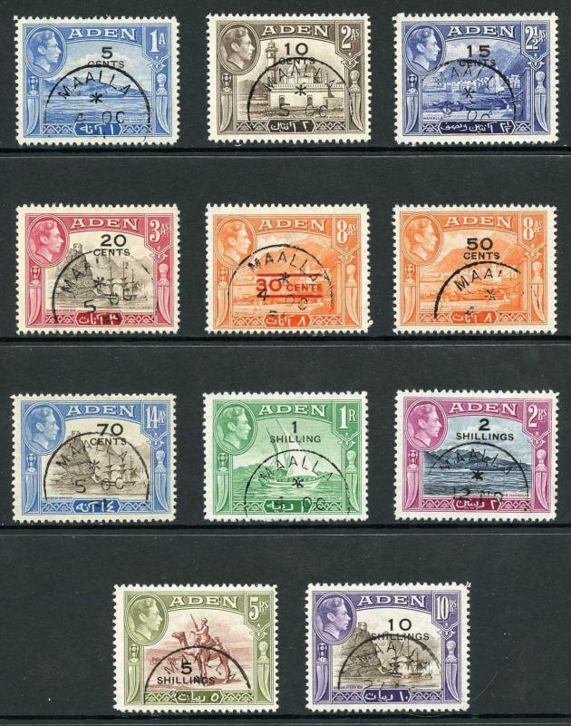 Aden SG36/46 1951 Set of 11 Fine Used