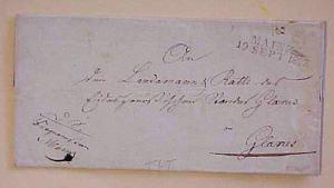 GERMAN  THURN & TAXIS  STAMPLESS MAINZ 1823 OFFICIAL