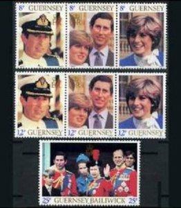 Guernsey MNH 224-6 Diana & Royal Family 1981