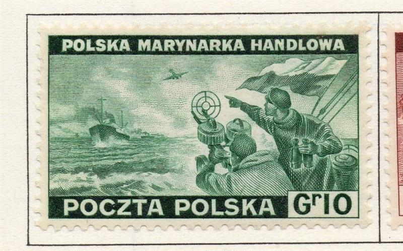 Poland 1941-44 Early Issue Fine Mint Hinged 10g. 190950