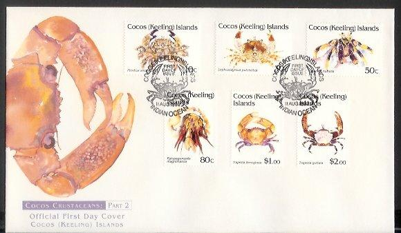 Cocos Is - 1992 Crustaceans (11 Aug) (FDC)