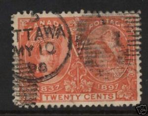 Canada #59 VF Used With Scarce MY 10 1898 Date Cancel