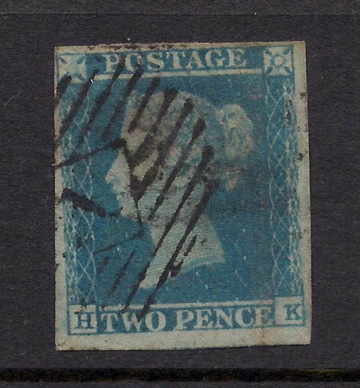 Great Britain #4b Deep Bright Blue - Used