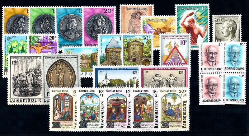 Luxembourg Luxemburg 1986 Complete Year Set  MNH