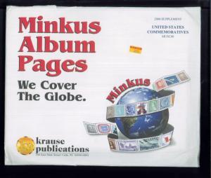 2000 United States Commemoratives Minkus Stamp Album Supplement Pages #MUSC00